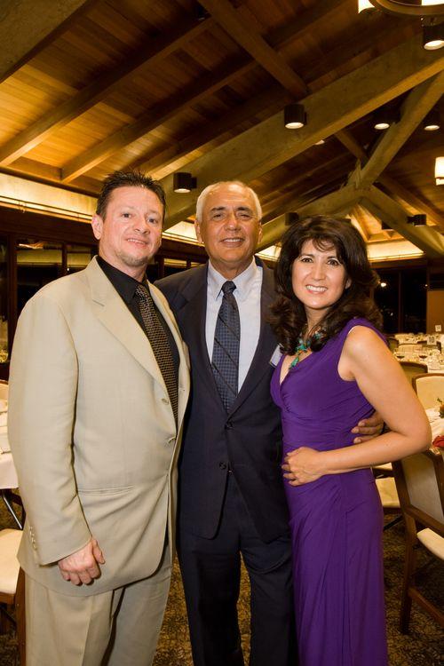 Lino Velo, Tony Quintero and Margarita Quihuis