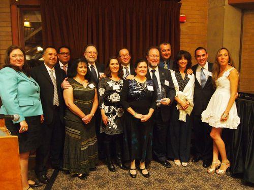 Catherine Sandoval and TechBA team honorees